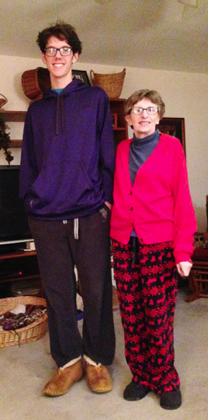 Obviously, Jus gets his height from Grammy.